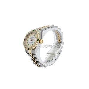 Rolex Accessories - Rolex Lady Datejust White MOP Emerald 26mm Watch